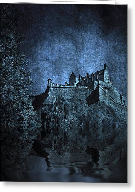 Creepy Digital Art Greeting Cards - Dark Castle Greeting Card by Svetlana Sewell