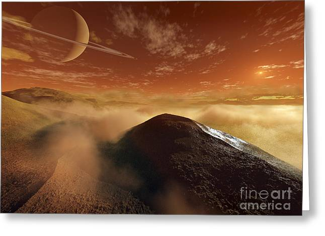 Rendition Greeting Cards - Dark Dunes Are Shaped By The Moons Greeting Card by Steven Hobbs