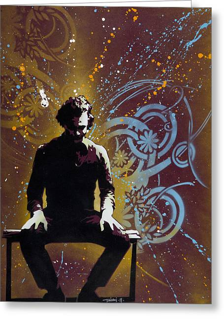 Spray Paint Art Greeting Cards - Dark Knight Joker Greeting Card by Iosua Tai Taeoalii