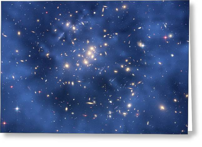 Missing Greeting Cards - Dark Matter Ring In Galaxy Cluster Greeting Card by M J Jee, H Fordnasaesastsci