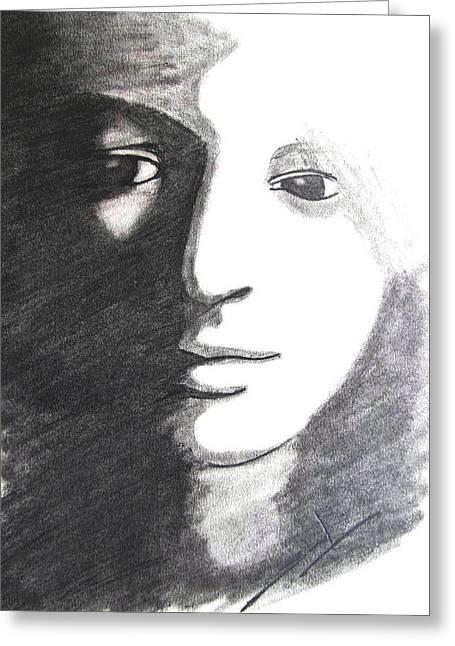 Dark N Dawn Greeting Card by Sunil Jangir