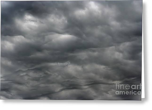 Firmament Greeting Cards - Dark Rainy Clouds Greeting Card by Michal Boubin
