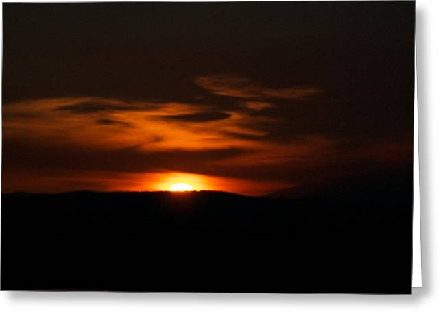 Sunset Framed Prints Greeting Cards - Dark Sun Greeting Card by Kevin Bone