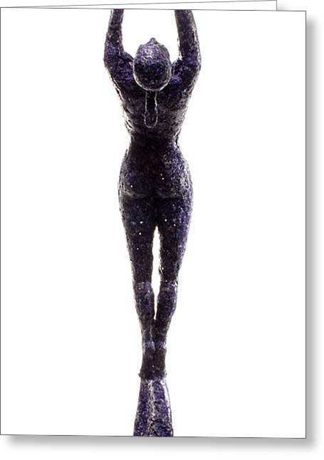 Figure Based Greeting Cards - Dark Violet Matter back view Greeting Card by Adam Long