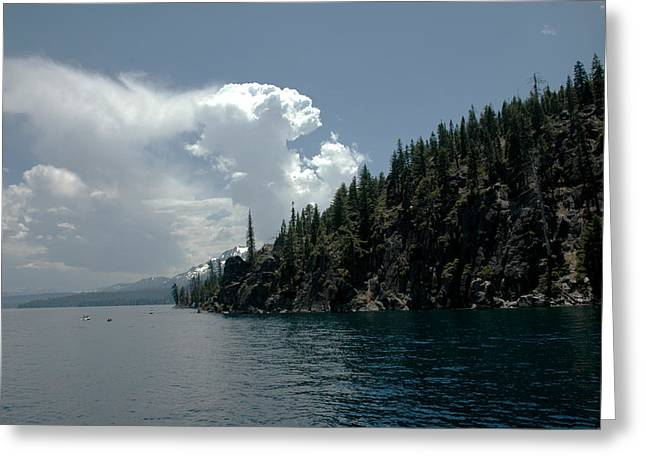 Cities Greeting Cards - Darkening Sky Lake Tahoe Greeting Card by LeeAnn McLaneGoetz McLaneGoetzStudioLLCcom