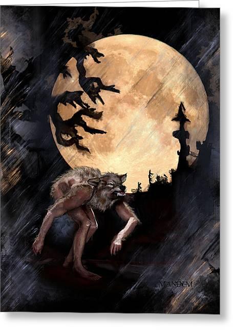 Horror Castle Greeting Cards - Darkenwarg Greeting Card by Mandem