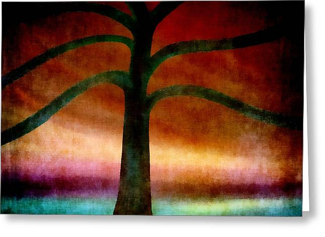 Surreal Landscape Mixed Media Greeting Cards - Darkest Before The Dawn Greeting Card by Angelina Vick