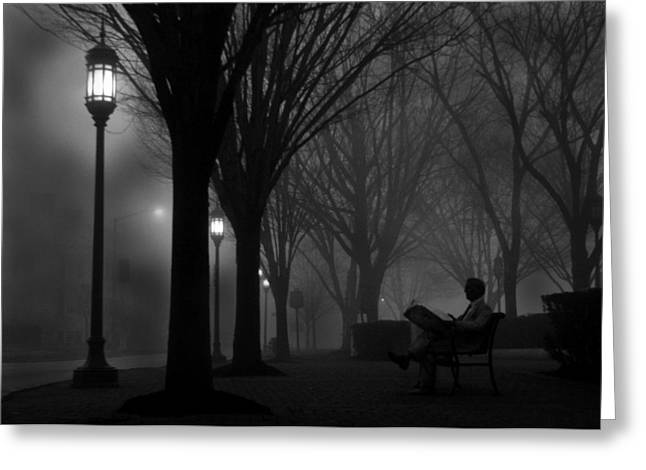 """""""riverfront Park"""" Greeting Cards - Darkness Falls Greeting Card by Lori Deiter"""