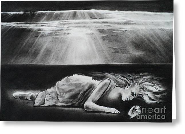 Darkness Falls Upon Me Greeting Card by Carla Carson