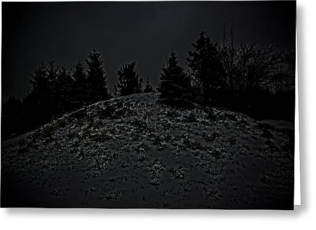 Snow Storm Sculptures Greeting Cards - Darkscape Greeting Card by Timothy Hedges