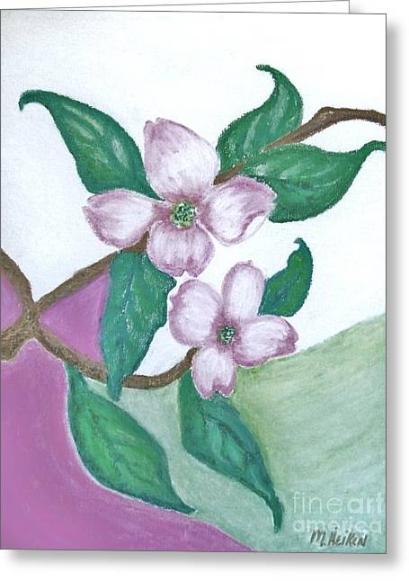 Print Pastels Greeting Cards - Darling Dogwood Greeting Card by Marsha Heiken