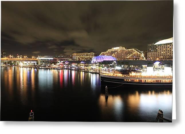 Darling Photographs Greeting Cards - Darling Harbor View from the Bridge V2 Greeting Card by Douglas Barnard