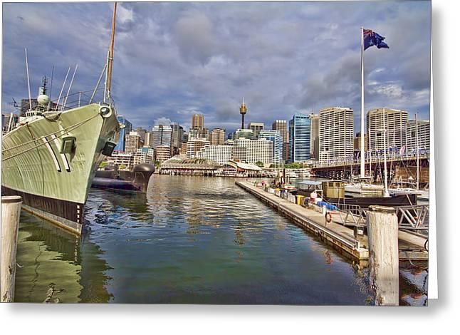 Darling Photographs Greeting Cards - Darling Harbor View V3 HDR Greeting Card by Douglas Barnard