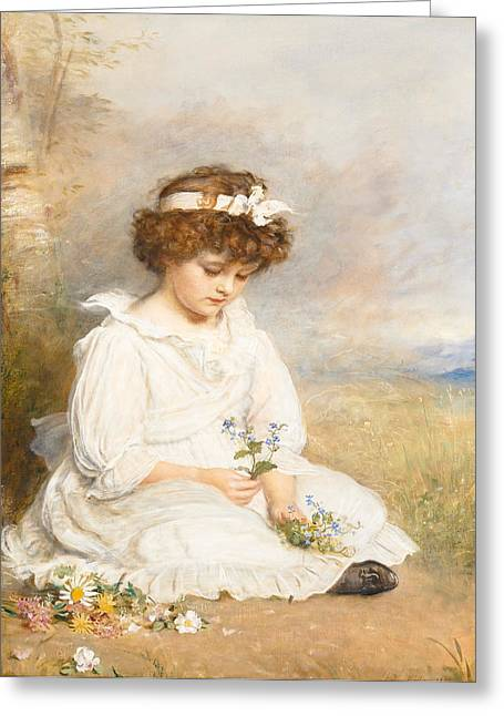 Restoration Greeting Cards - Darling Greeting Card by Sir John Everett Millais