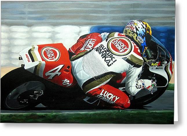 Jeff Taylor Greeting Cards - Daryl Beattie - Suzuki MotoGP Greeting Card by Jeff Taylor
