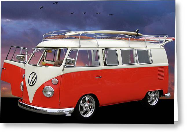 Slammer Greeting Cards - Das Bus Greeting Card by Bill Dutting
