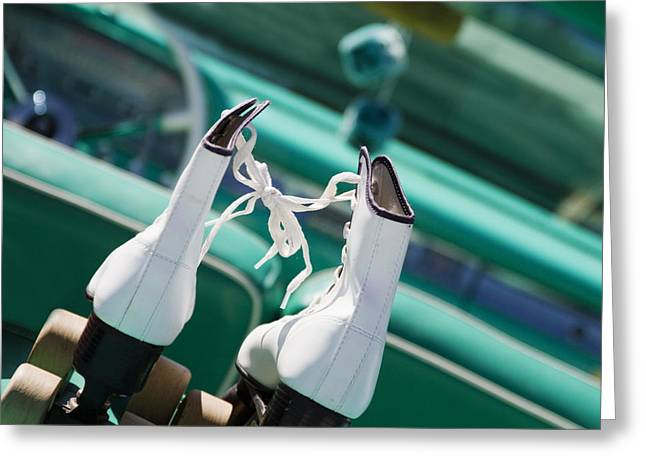 Skates Photographs Greeting Cards - Date Night Greeting Card by Rebecca Cozart