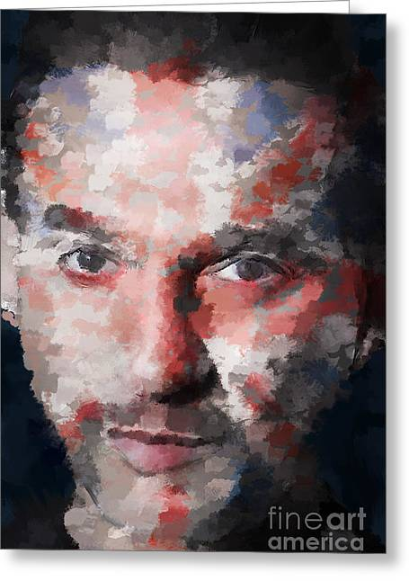 Industrial Icon Digital Art Greeting Cards - Dave Gahan Greeting Card by Garry West