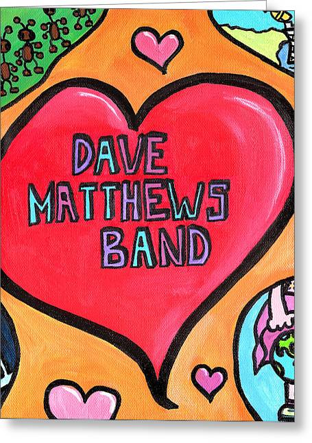 Toon Greeting Cards - Dave Matthews Band Tribute Greeting Card by Jera Sky