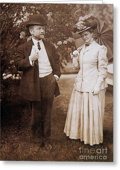 Famous Person Greeting Cards - David And Mabel Todd Greeting Card by Photo Researchers