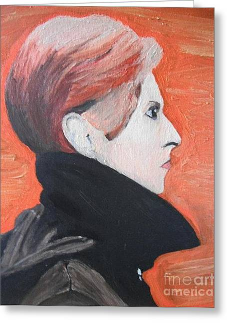 David Bowie Greeting Card by Jeannie Atwater Jordan Allen