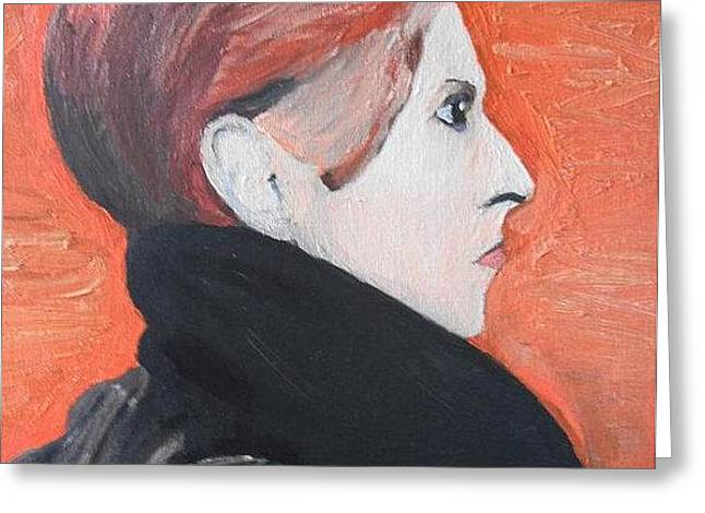 David Bowie Greeting Card by Jeannie Atwater Jordan Allen