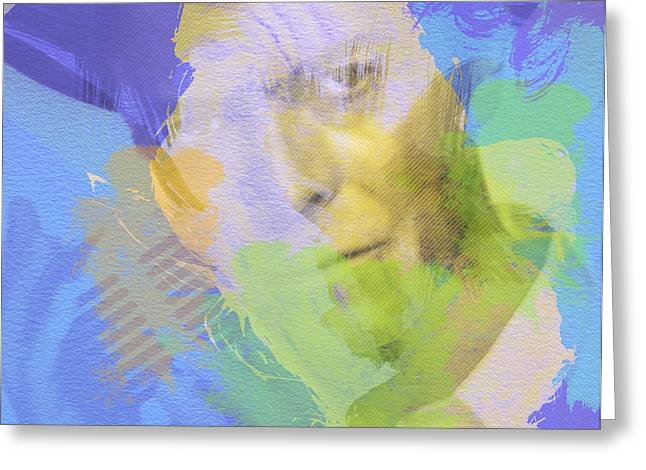 Singer Paintings Greeting Cards - David Bowie Greeting Card by Naxart Studio