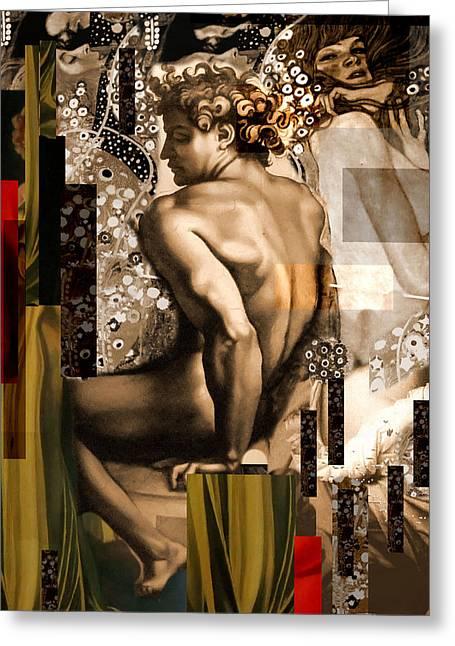 David Et Julie Greeting Card by Karine Percheron-Daniels
