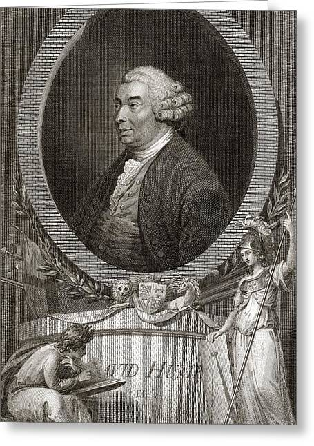 1711 Greeting Cards - David Hume, Scottish Philosopher Greeting Card by Middle Temple Library