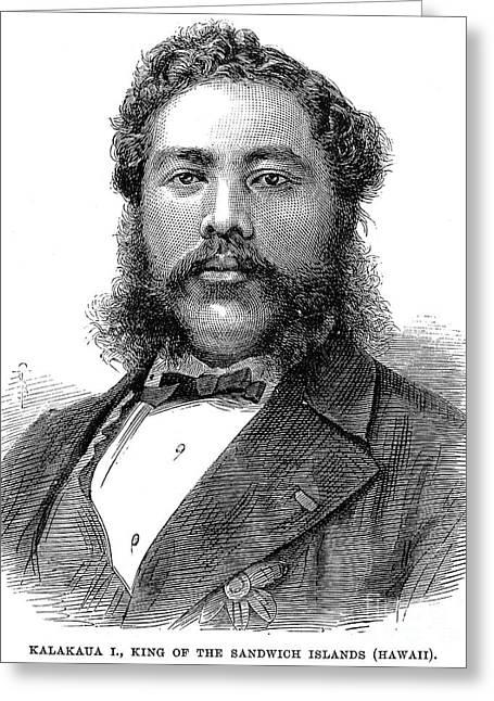 Sideburns Greeting Cards - David Kalakaua (1836-1891) Greeting Card by Granger