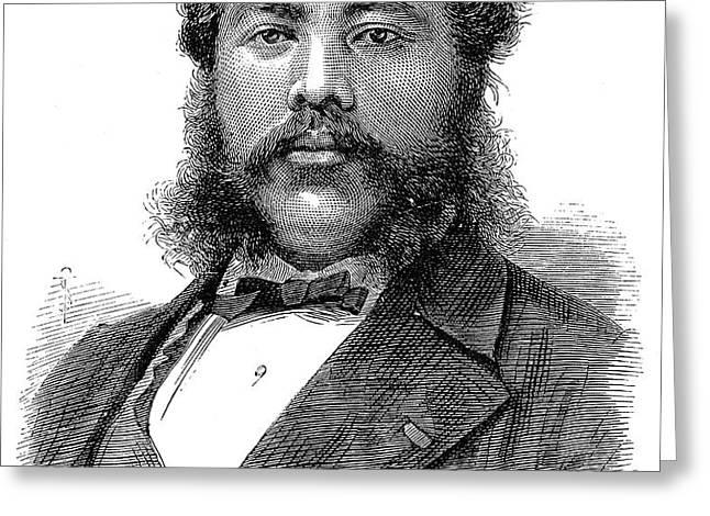 DAVID KALAKAUA (1836-1891) Greeting Card by Granger