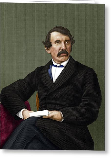 Slavery Greeting Cards - David Livingstone, Scottish Explorer Greeting Card by Maria Platt-evans