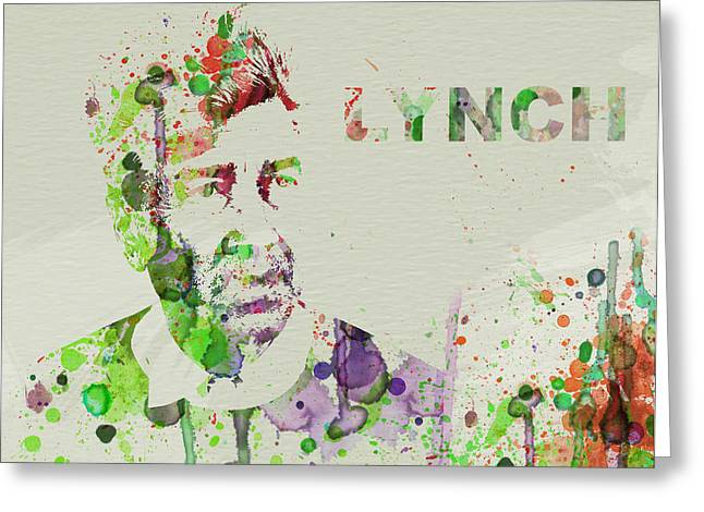 Film Watercolor Greeting Cards - David Lynch Greeting Card by Naxart Studio
