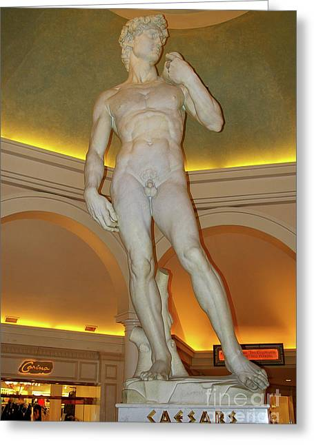 Michelangelo Greeting Cards - David Michelangelo Greeting Card by Mariola Bitner