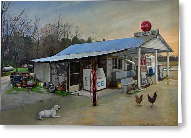 Recently Sold -  - Grocery Store Greeting Cards - David Paces Gro. Greeting Card by Doug Strickland
