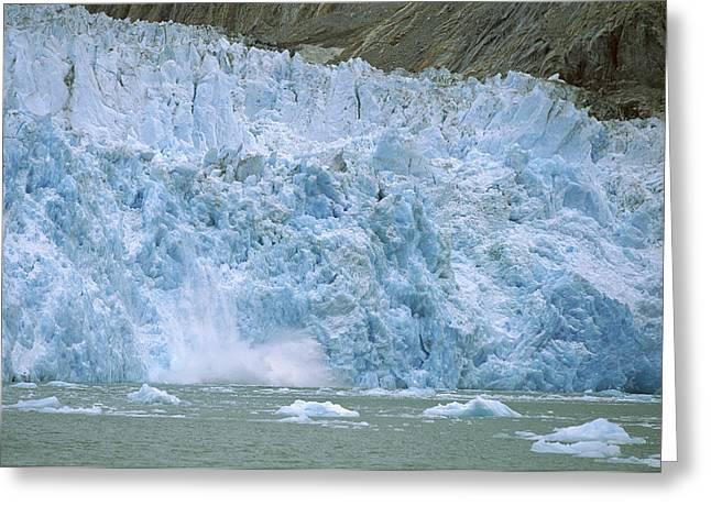 Dawes Glacier Calving, Endicott Arm Greeting Card by Konrad Wothe