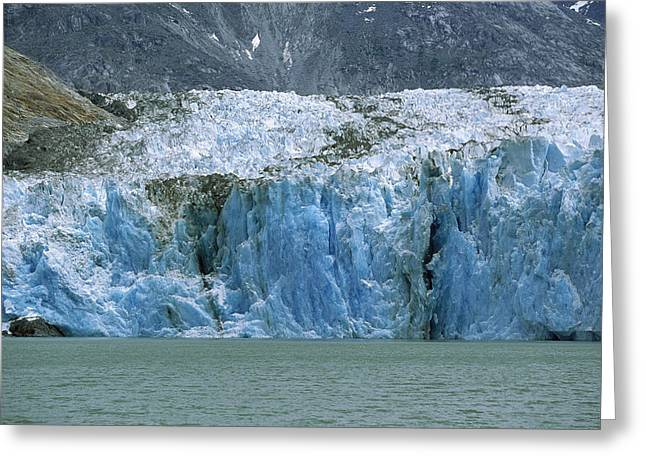 Northwestern Us Greeting Cards - Dawes Glacier, Endicott Arm, Inside Greeting Card by Konrad Wothe