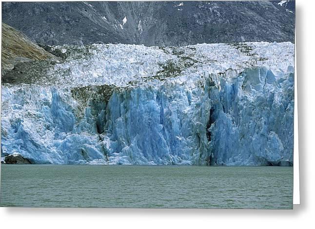 Dawes Glacier, Endicott Arm, Inside Greeting Card by Konrad Wothe