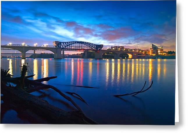 Tennessee River Greeting Cards - Dawn Along The River Greeting Card by Steven Llorca