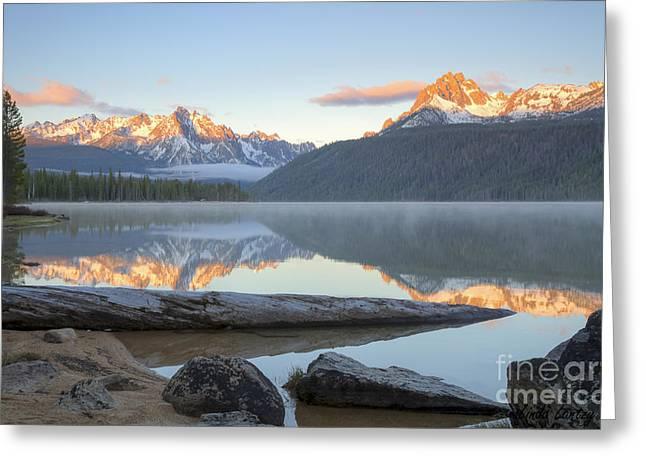 Idaho Greeting Cards - Dawn at Redfish Greeting Card by Idaho Scenic Images Linda Lantzy