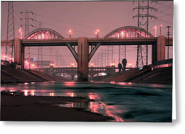 Sixth Greeting Cards - Dawn at the 6th Street Bridge Greeting Card by Kevin  Break