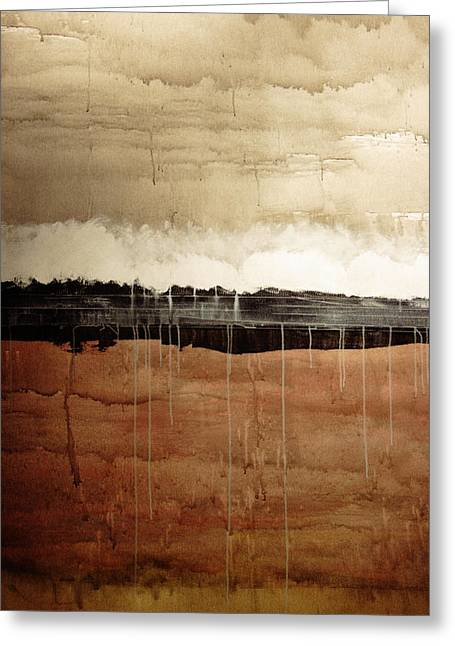 Merging Paintings Greeting Cards - Dawn Greeting Card by Brian Drake - Printscapes