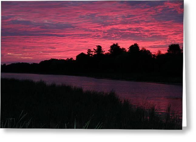 Marsh Greeting Cards - Dawn Glory Greeting Card by Richard De Wolfe