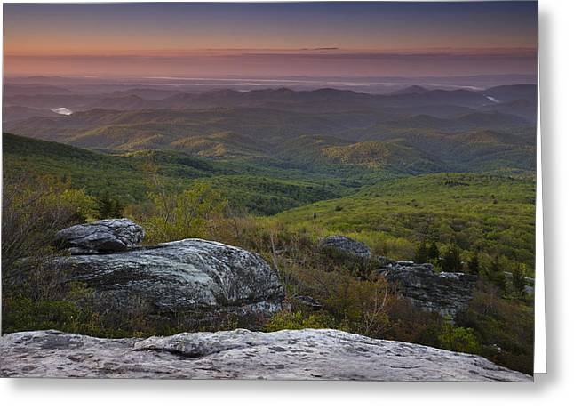 Dawn In The Blue Ridge Greeting Card by Andrew Soundarajan