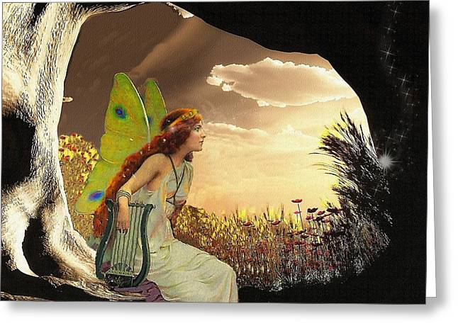 Fairies Greeting Cards - Dawn Greeting Card by Mary Morawska