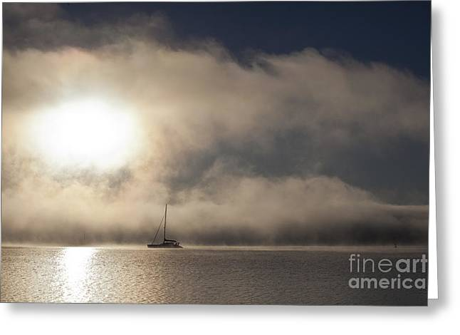Morning Mist Images Greeting Cards - Dawn mist Greeting Card by Sheila Smart