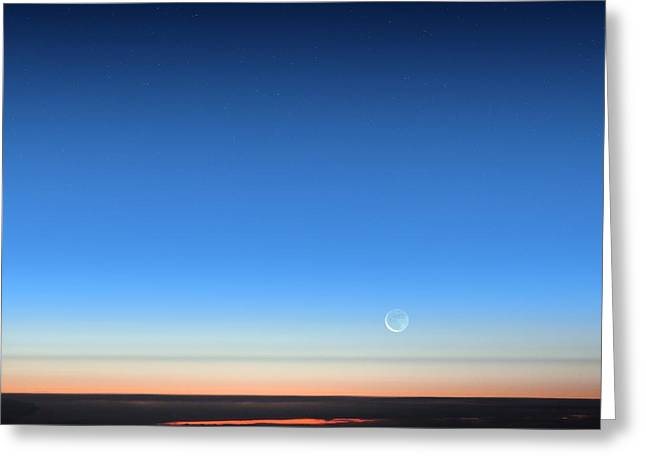 Dawn Seen From An Aeroplane Greeting Card by Detlev Van Ravenswaay