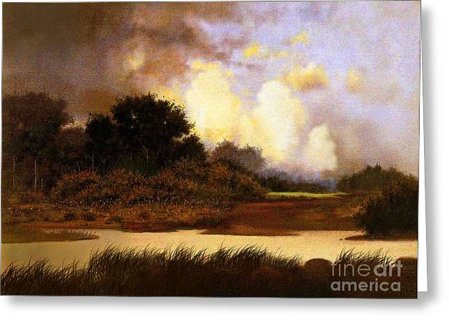 Storm Prints Digital Greeting Cards - Dawn Sky Greeting Card by Robert Foster