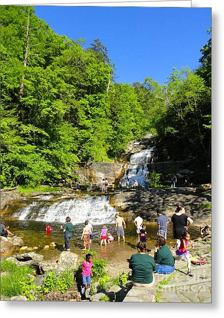 Kent Falls State Park Greeting Cards - Day at Kent Falls State Park Greeting Card by Meandering Photography