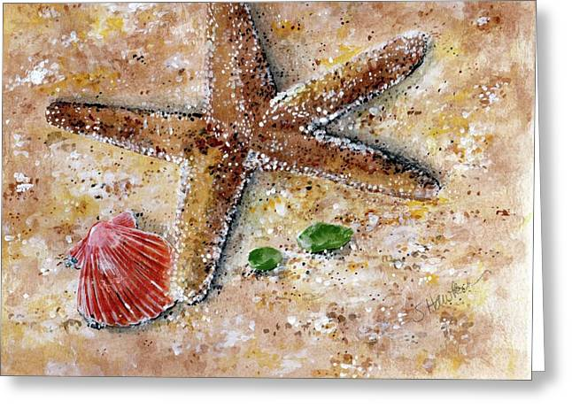 Mermaidspalette Greeting Cards - Day at the Beach Greeting Card by Sheryl Heatherly Hawkins
